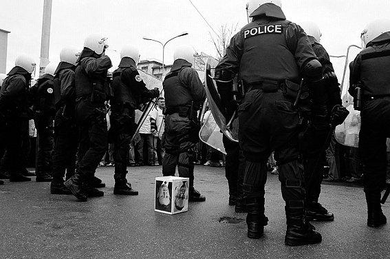 protest- february 07 - Kosovo -UNaccreditation